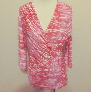 Chaus pink and white shirt size small